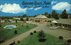 Colonial Court Hotel Postcard