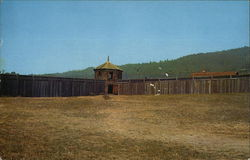 Watch Tower at One Corner of Fort Ross, California Stockade