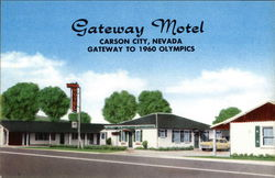 Gateway Motel ~ Gateway to the 1960 Olympics Postcard