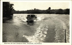 Boating on San Joaquin River