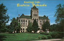 Gage County Courthouse and Grounds Postcard
