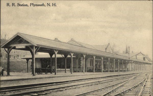 R. R. Station Plymouth New Hampshire