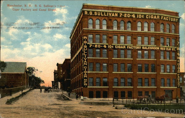 R.G. Sullivan's Cigar Factory and Canal Street Manchester New Hampshire