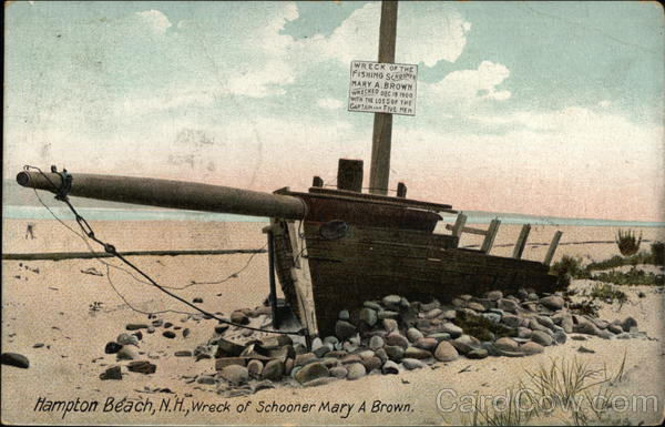 Wreck of Schooner Mary A Brown Hampton Beach New Hampshire