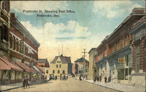Pembroke Street, showing Post Office Canada Ontario