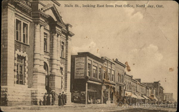 Main Street, looking East from Post Office North Bay Canada