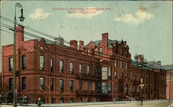 Children's Hospital, Huntington Ave., Boston Mass. Massachusetts