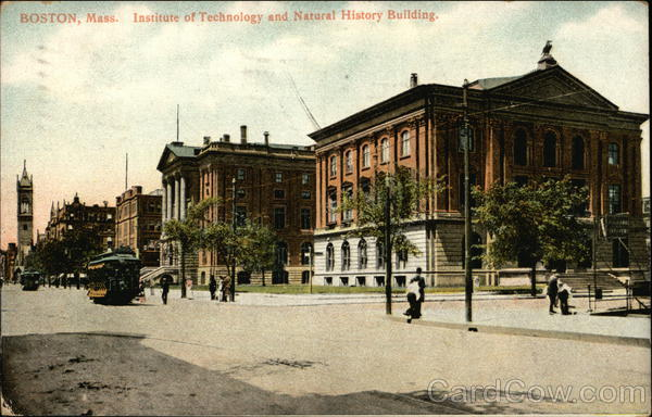Institute of Technology and Natural History Building Boston Massachusetts