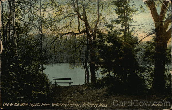 End of the Walk, Tupelo Point at Wellesley College Massachusetts