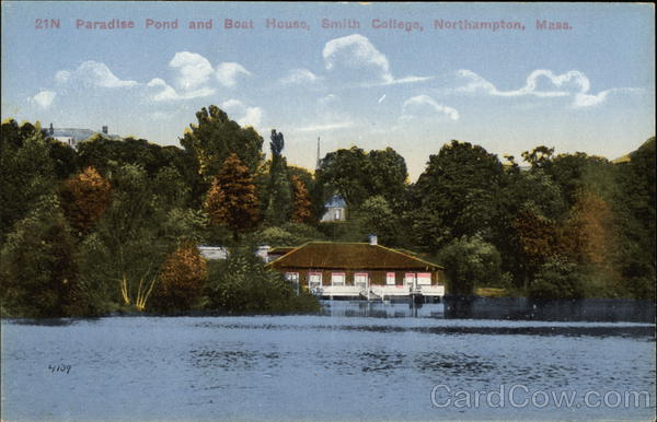 Paradise Pond and Boat House, Smith College Northampton Massachusetts