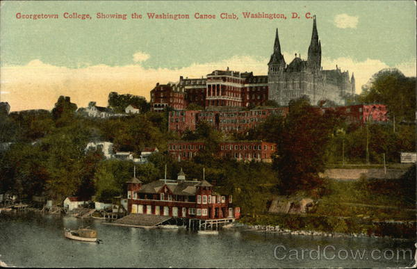 Gerogetown College, Showing the Washington Canoe Club District of Columbia