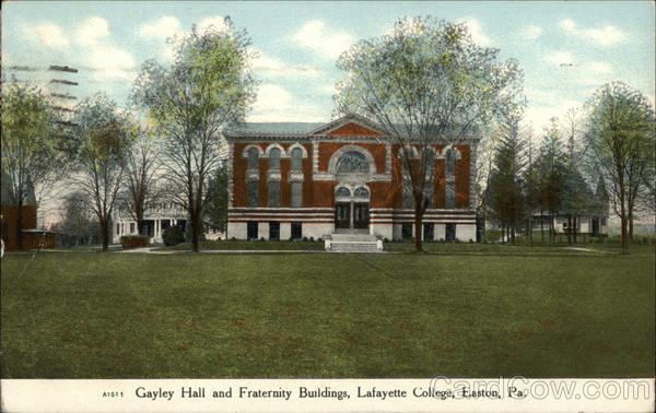 Lafayette Hotel - Gayley Hall and Fraternity Buildings Easton Pennsylvania