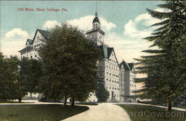 Old Main Building at Penn State State College Pennsylvania