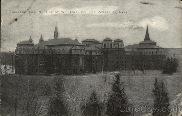 College Hall, North Side, Wellesley College Massachusetts