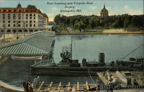 Boat Landing and Torpedo Boat Annapolis Maryland