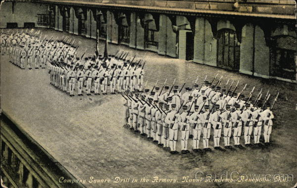 Naval Academy - Company Square Drill in the Armory Annapolis Maryland