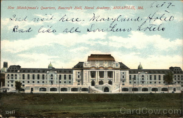 New Midshipman's Quarters, Bancroft Hall, Naval Academy Annapolis Maryland