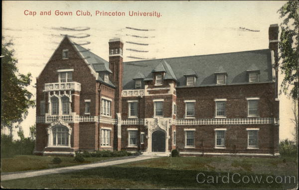 Cap And Gown Club Princeton University New Jersey Postcard