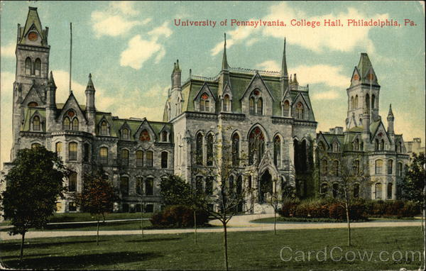 University of Pennsylvania, College Hall Philadelphia