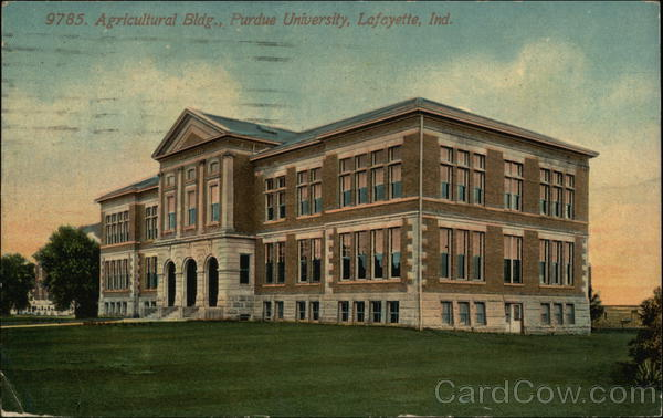 Agricultural Building, Purdue University Lafayette Indiana