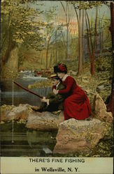 Fine Fishing Postcard