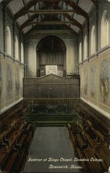 Interior of Kings Chapel, Bowdoin College