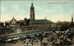 Bird's Eye View of Washington Market