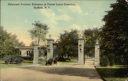 Delaware Avenue, Entrance to Forest Lawn Cemetery