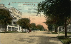 Grand Avenue and Marlborough Hotel Postcard