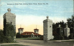 Entrance to Swope Park, showing Shelter House