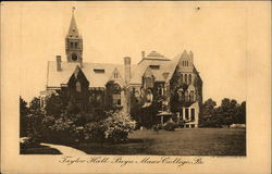 Bryn Mawr College - Taylor Hall Postcard