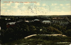 View of Bates College Campus from Mt. David