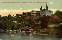 Gerogetown College, Showing the Washington Canoe Club