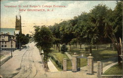 Somerset Street and Rutger's College Entrance