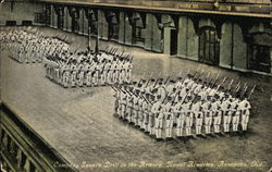 Naval Academy - Company Square Drill in the Armory