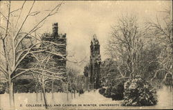College Hall and Campus in Winter, University of Pennsylvania