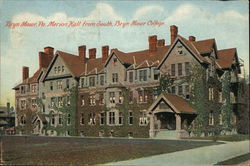 Merion Hall from South, Bryn Mawr College Postcard