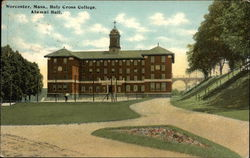 Alumni Hall, Holy Cross College Postcard