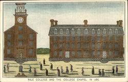 Yale College and The College Chapel in 1786