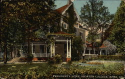 President's Home at Shorter College Postcard