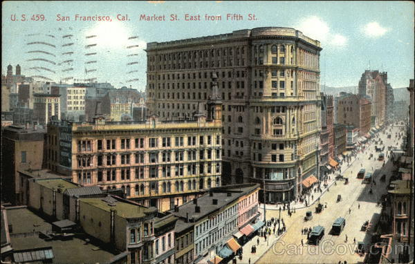 Market Street, East from Fifth Street San Francisco California