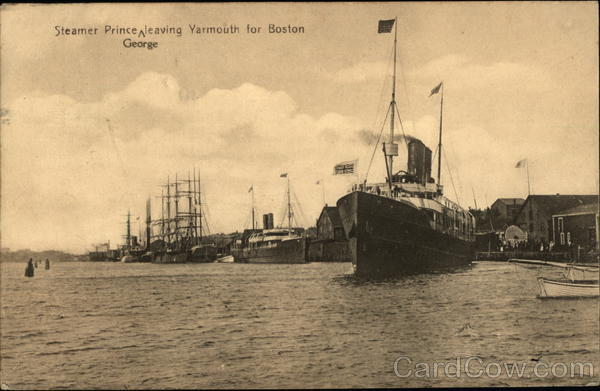Steamer Prince George leaving Yarmouth for Boston Canada