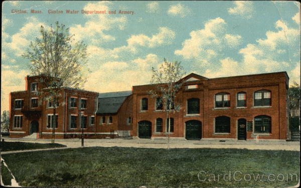 Clinton Water Department and Armory Massachusetts