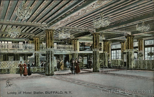 Lobby of Hotel Statler Buffalo New York