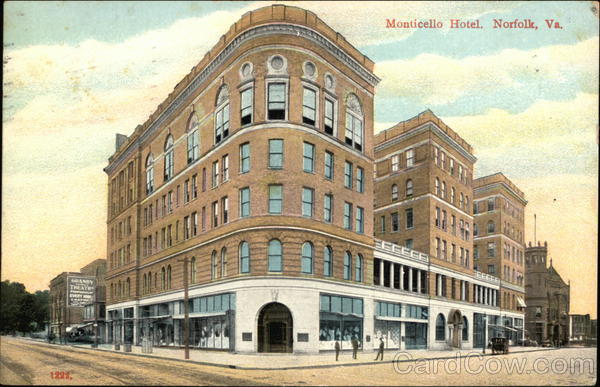 Street View of Monticello Hotel Norfolk Virginia