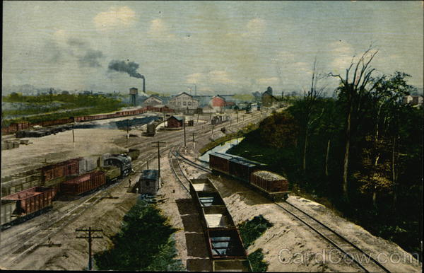 View of a Working Train Yard Trains, Railroad