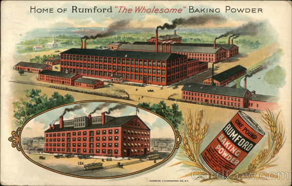 Home of Rumford The Wholesome Baking Powder Providence Rhode Island