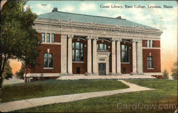 Coram Library at Bates College Lewiston Maine