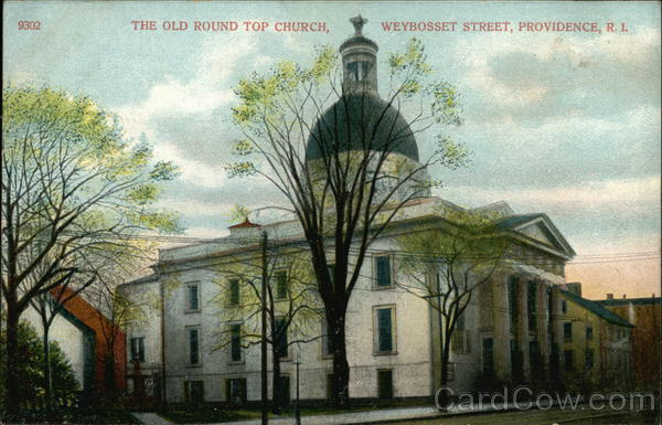 The Old Round Top Church on Weybosset Street Providence Rhode Island