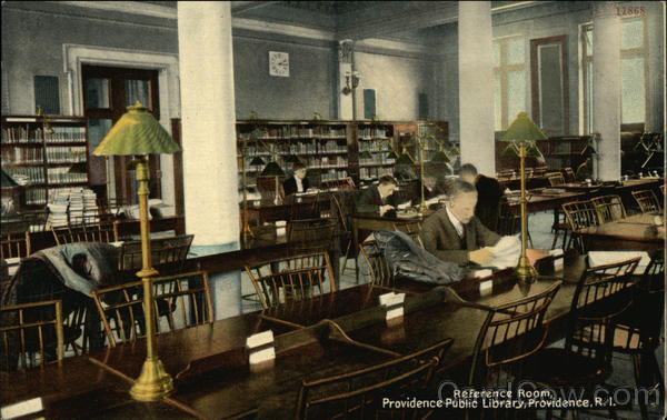 Reference Room at the Providence Public Library Rhode Island